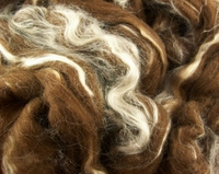 Brown Merino/Tussah Silk